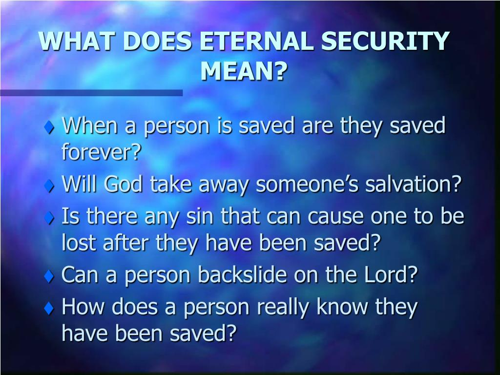 what does eternal security mean l.