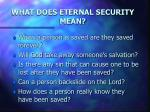 what does eternal security mean