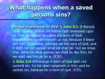 what happens when a saved persons sins