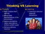 thinking vs learning
