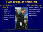 two types of thinking
