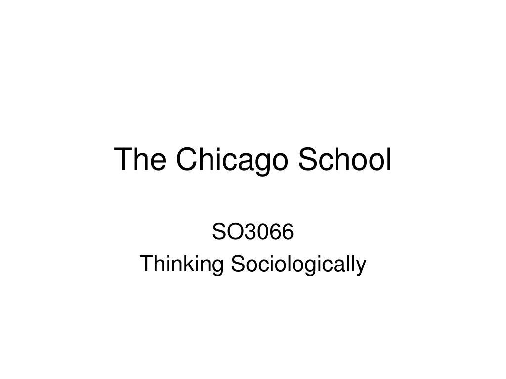 the chicago school l.