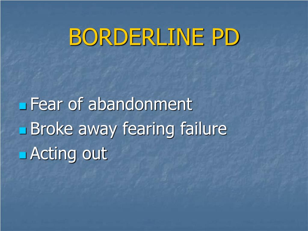 BORDERLINE PD