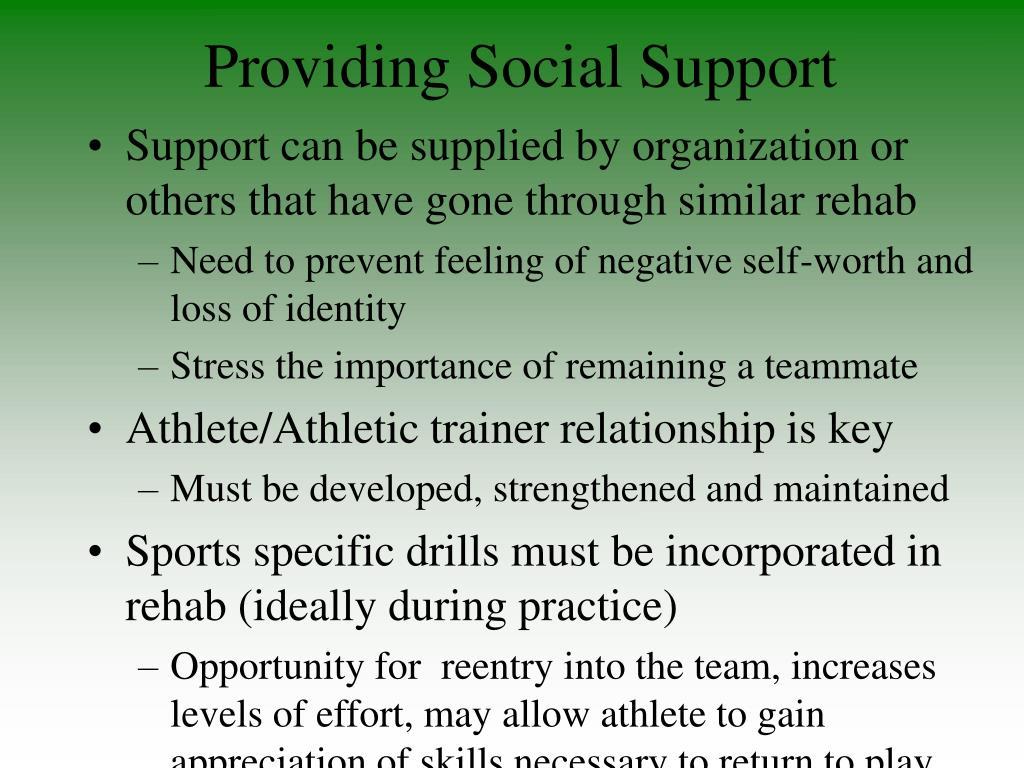 Providing Social Support