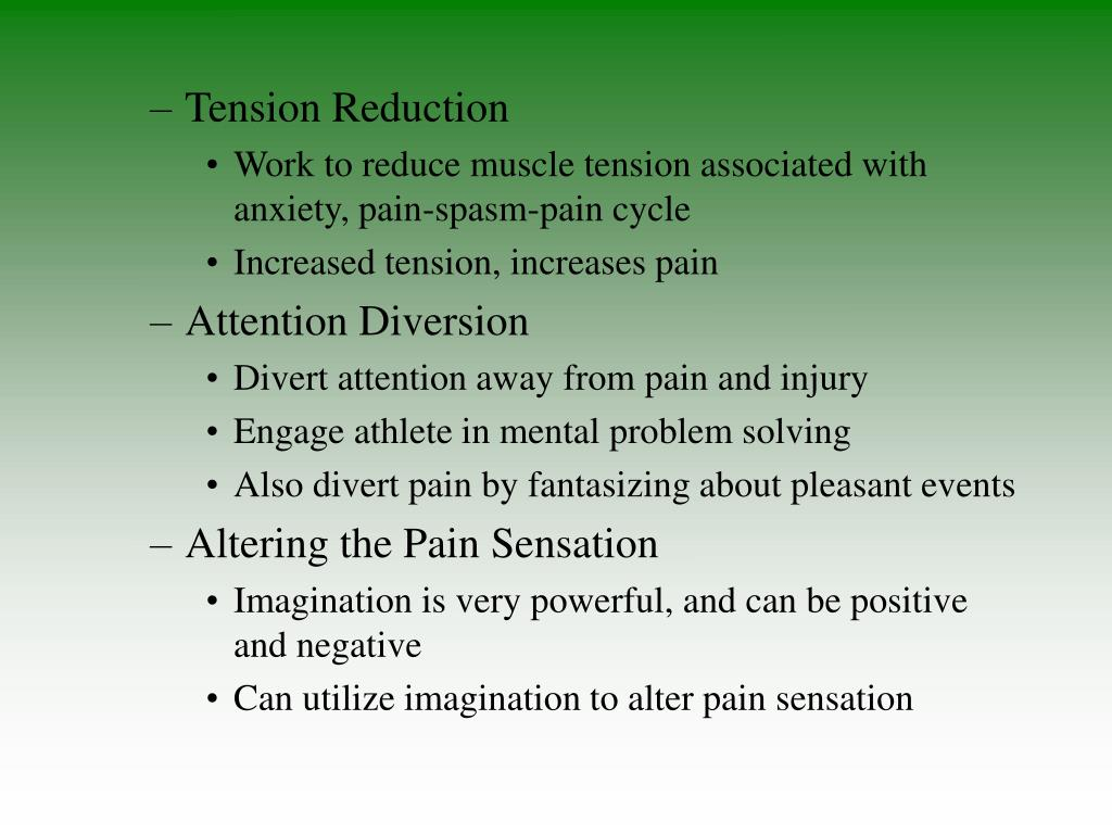 Tension Reduction