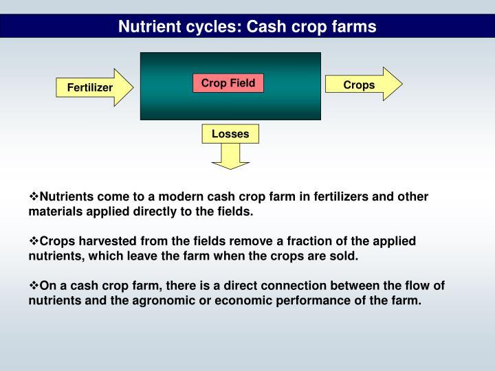 Nutrient cycles: Cash crop farms