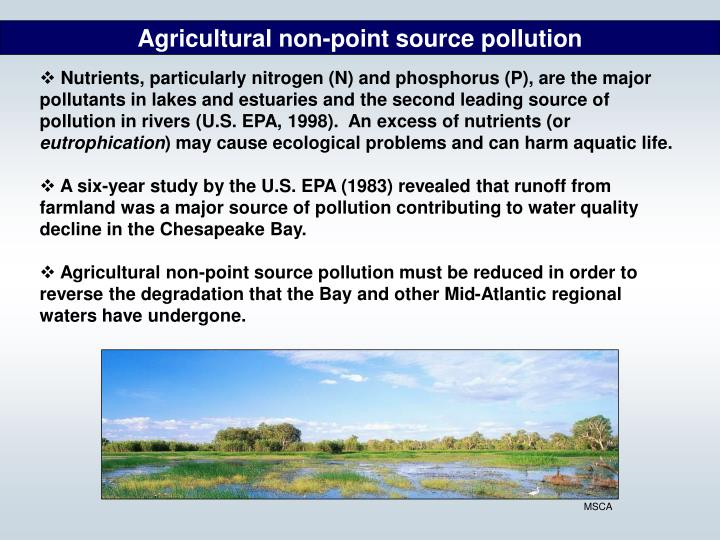 Agricultural non-point source pollution
