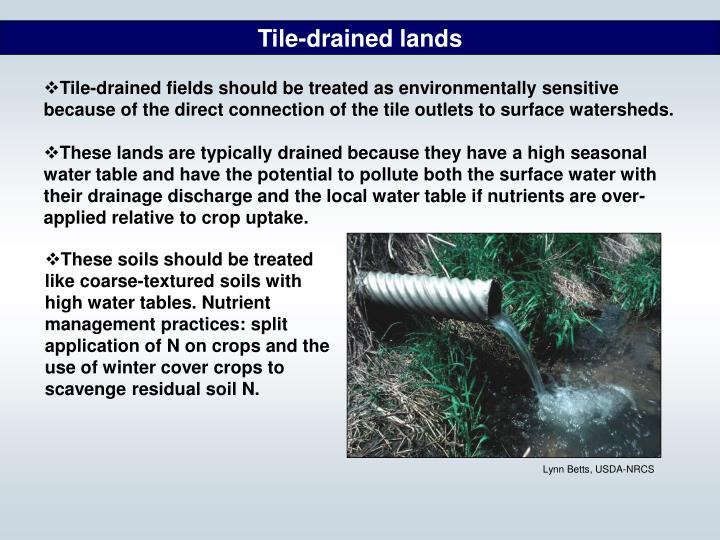 Tile-drained lands
