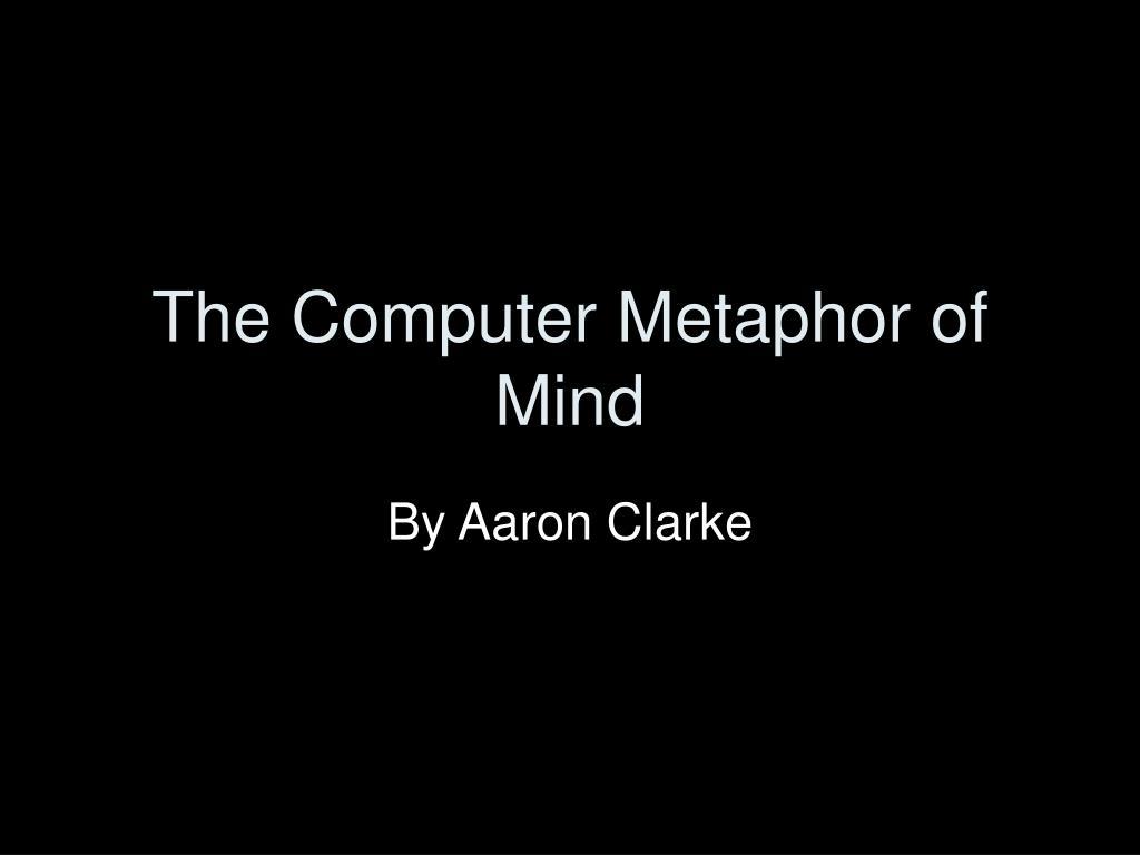 the computer metaphor of mind l.
