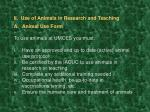 ii use of animals in research and teaching