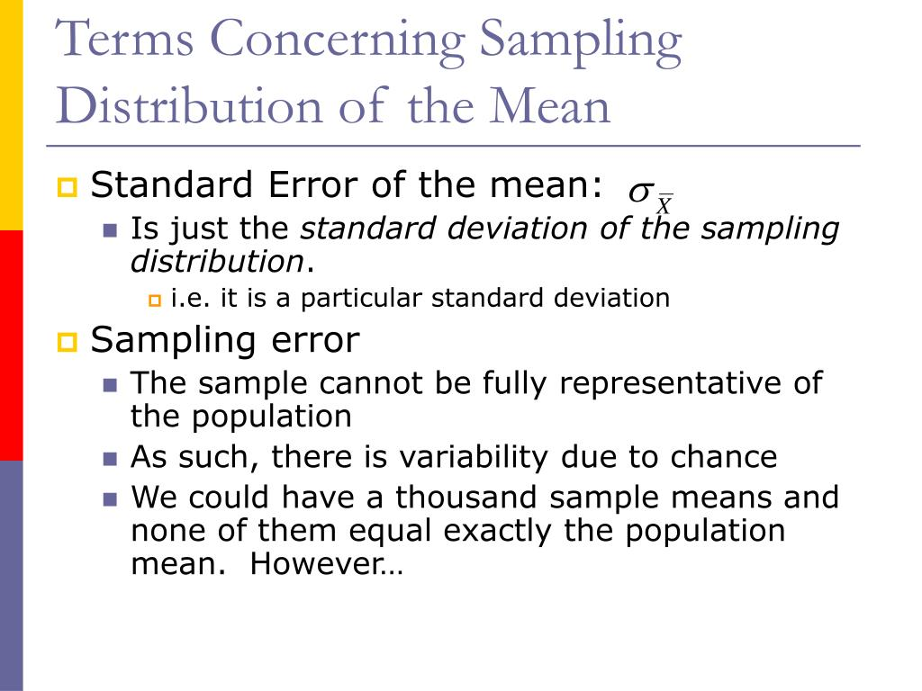 the standard error of the sampling distribution when we know the population standard deviation is eq