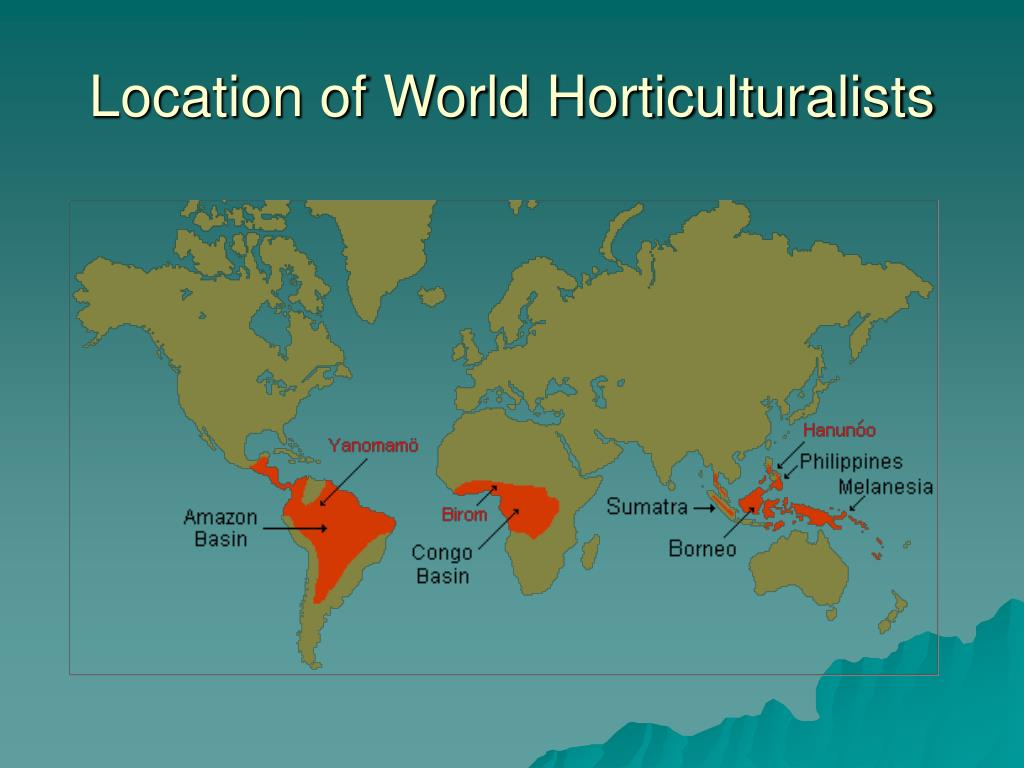 Location of World Horticulturalists