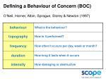 defining a behaviour of concern boc o neil horner albin sprague storey newton 1997