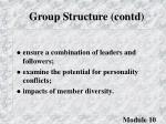 group structure contd