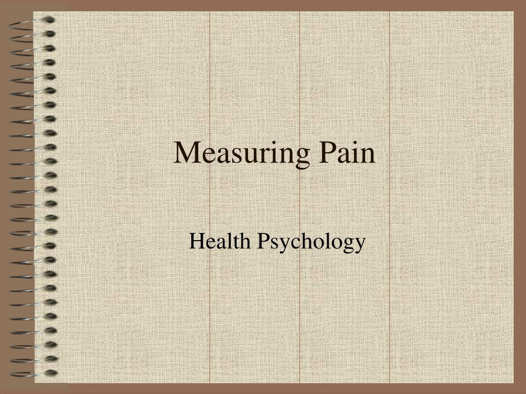 measuring pain l.
