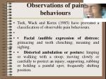 observations of pain behaviours12
