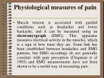 physiological measures of pain