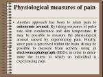 physiological measures of pain6