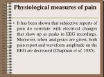 physiological measures of pain8
