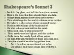 shakespeare s sonnet 3