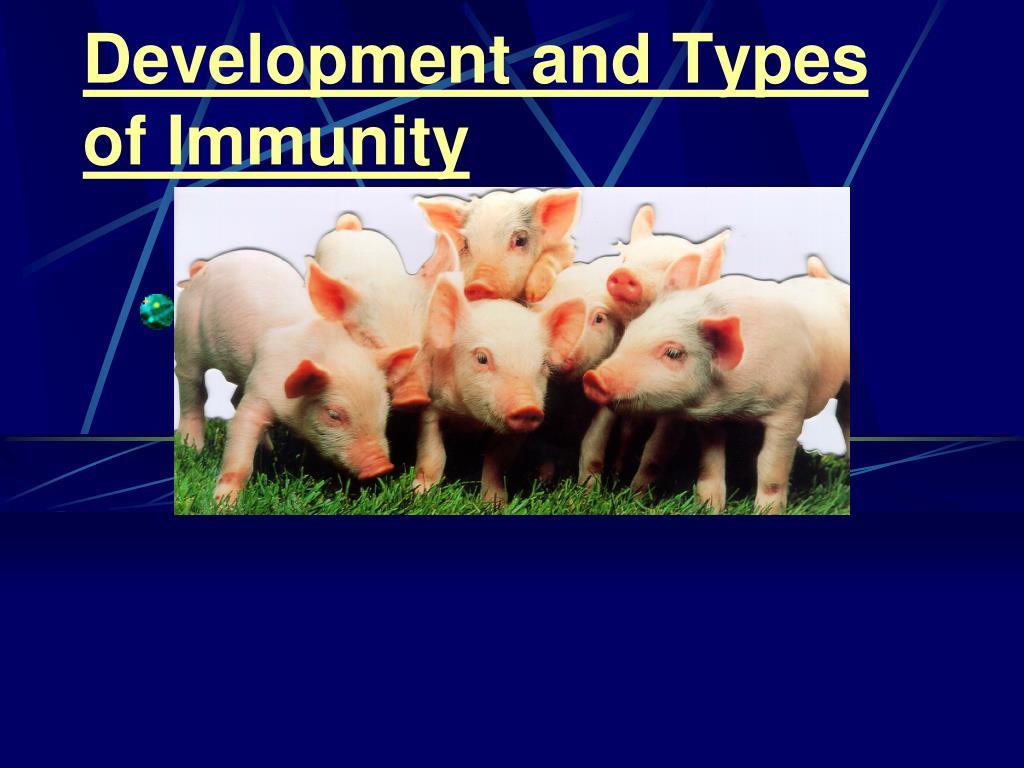Development and Types of Immunity