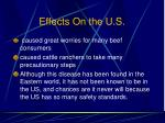 effects on the u s