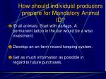 how should individual producers prepare for mandatory animal id108