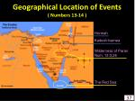 geographical location of events numbers 13 14