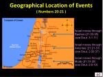 geographical location of events numbers 20 2160