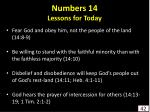 numbers 14 lessons for today42