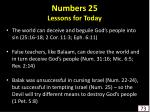 numbers 25 lessons for today73