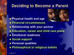 deciding to become a parent