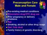 preconception care male and female