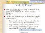haeckel s fraud