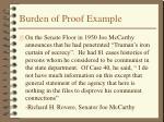 burden of proof example
