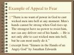 example of appeal to fear