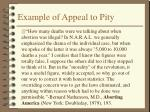 example of appeal to pity