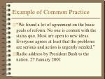 example of common practice