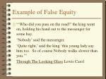 example of false equity