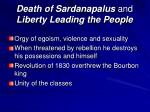 death of sardanapalus and liberty leading the people