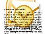 penggunaan outlook untuk pengelolaan email