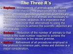 the three r s