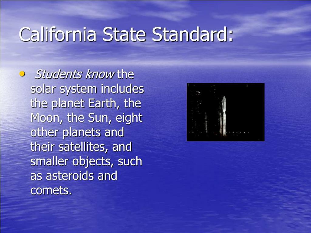 California State Standard: