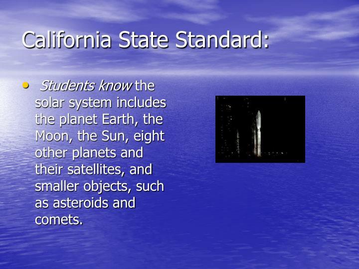 California state standard