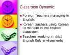 classroom dynamic