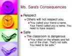ms sara s consequences