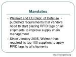 mandates