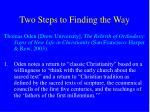 two steps to finding the way