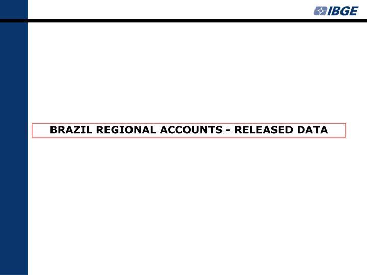 BRAZIL REGIONAL ACCOUNTS - RELEASED DATA