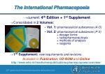the international pharmacopoeia26
